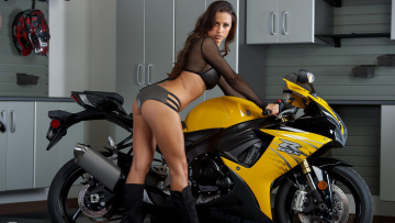 обоя мотоциклы, мото с девушкой, moto