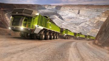 обоя техника, 3d, etf, mt-240, mining, truck