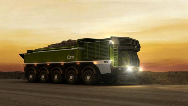 Обои картинки фото техника, 3d, etf, mt-240, mining, truck