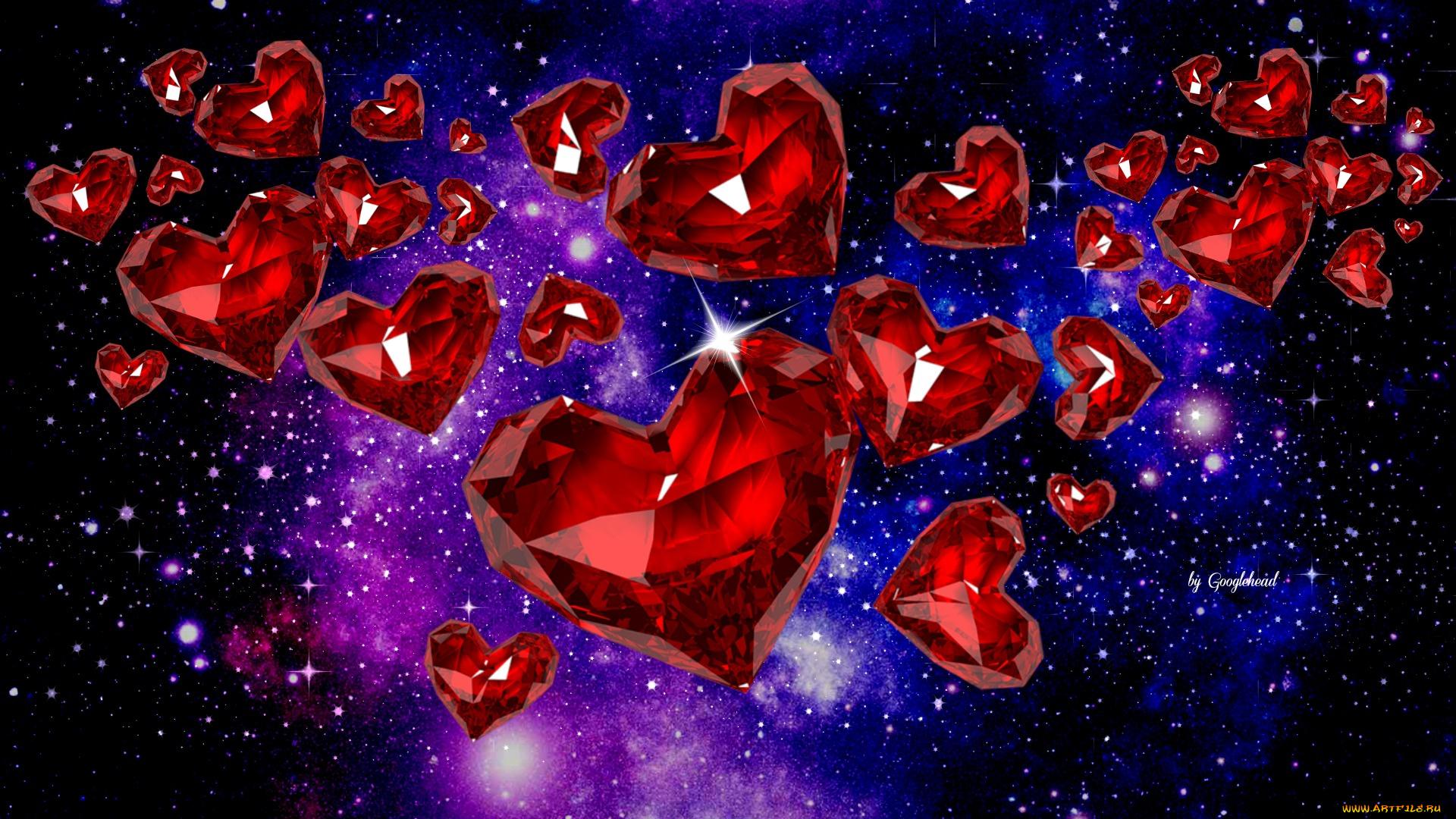 Сердца алмазы загрузить