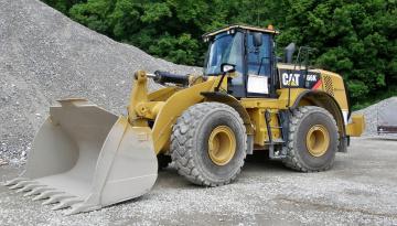 Картинка 2013+cat+966k+xe+``avesco`` техника строительная+техника трактор ковш карьер колесный щебень