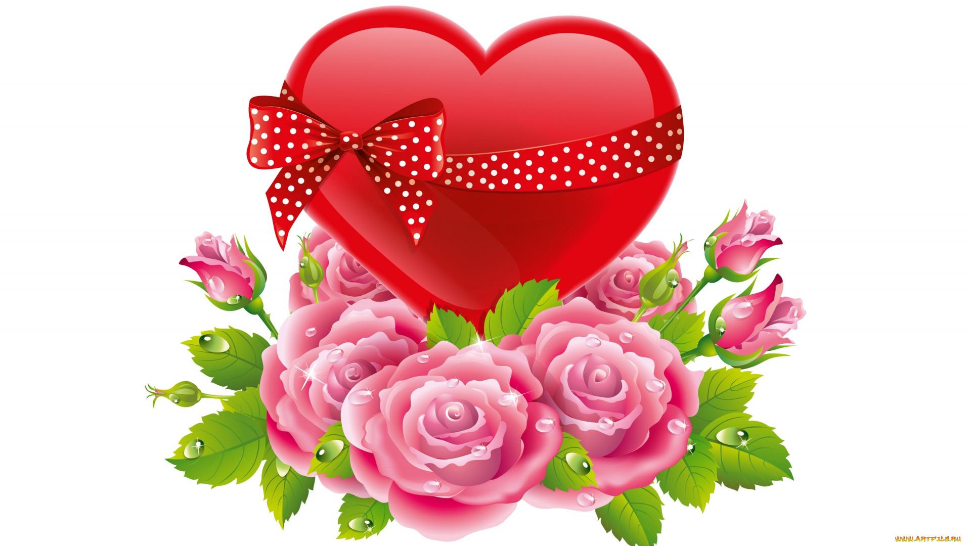 скачай мне картинки с цветами и сердечками расскажем