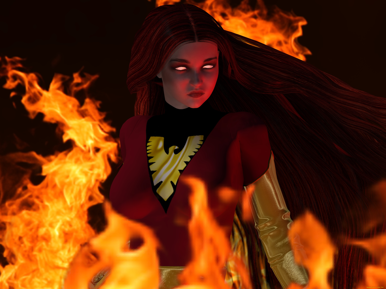 Девушка, огонь, взгляд загрузить