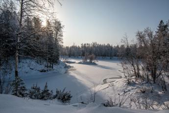 Картинка природа зима лед снег