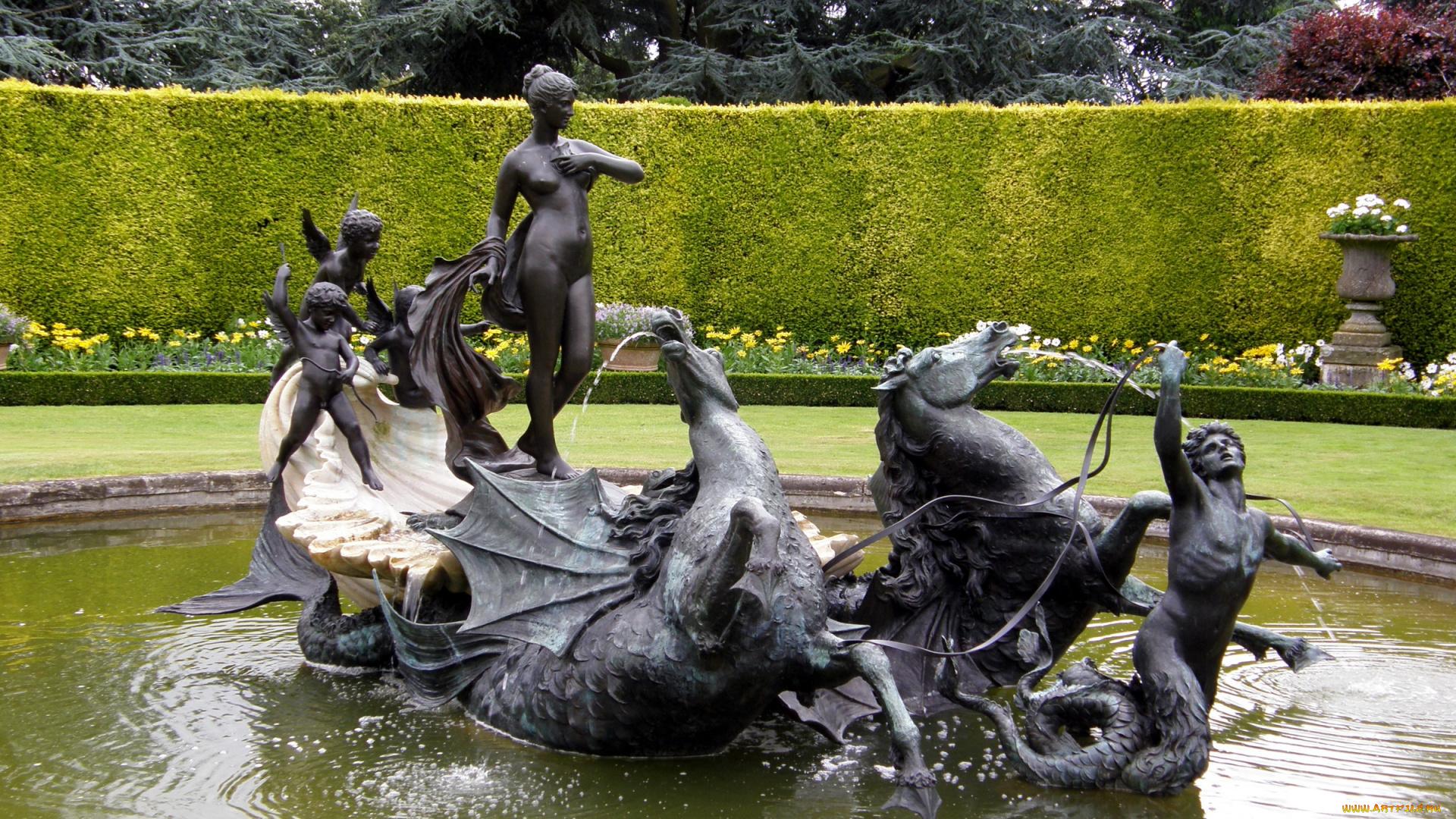 Скульптуры фонтан здание скачать