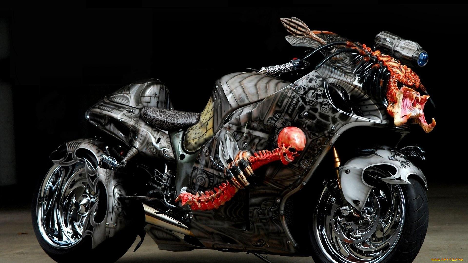 Suzuki Hayabusa мотоцикл дорога горы на телефон