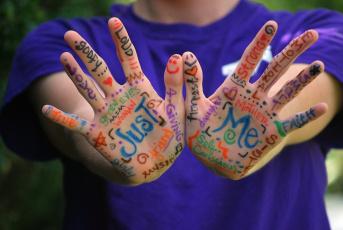 Картинка разное руки надписи ладони