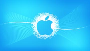 Картинка компьютеры apple фон логотип