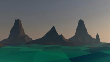 обоя векторная графика, природа , nature, горы, фон