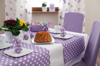 Картинка праздничные пасха пасхальный стол