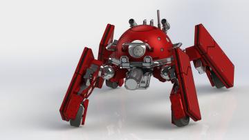 Картинка 3д+графика modeling+ моделирование робот