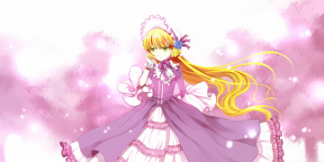 Картинка аниме gosick victorique de broix чепец платье девушка брощь бант ленты украшения цветы роза