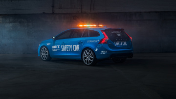 Картинка автомобили volvo v60 polestar wtcc safety car 2016г