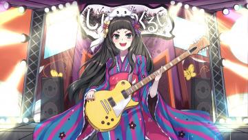 Картинка seam+would+roscoe аниме unknown +другое девушка взгляд фон гитара