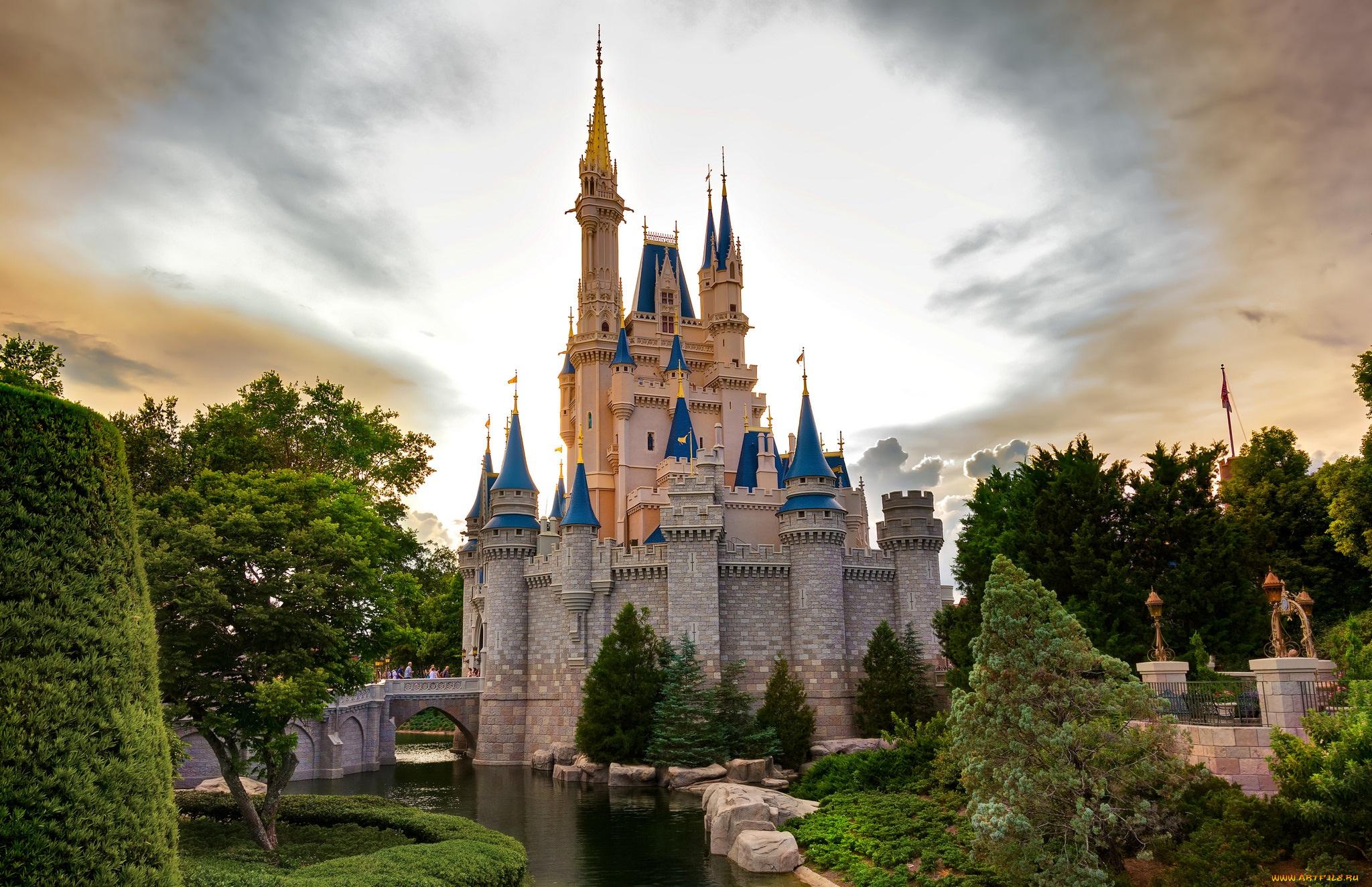 Дню работников, сказочные картинки замков