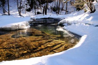 Картинка природа реки озера снег