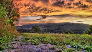Картинка природа другое поле холмы облака