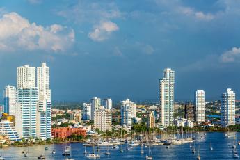 Картинка cartagena +colombia города -+панорамы здания яхты гавань побережье колумбия картахена colombia панорама