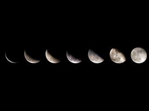 обоя космос, луна, ночь, небо