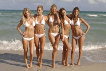 обоя разное, знаменитости, девушки, модели, купальники, море, берег, alessandra, ambrosio, doutzen, kroes, marisa, miller, miranda, kerr, karolina, kurkova