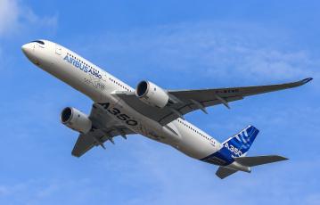обоя airbus a350-900 xwb, авиация, пассажирские самолёты, авиалайнер