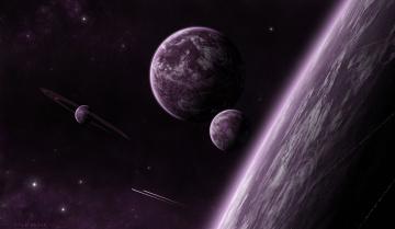 обоя космос, арт, звезды, планеты, галактика, вселенная