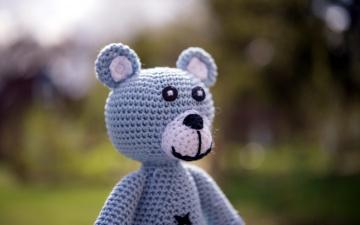 обоя разное, игрушки, медведь, вязаный