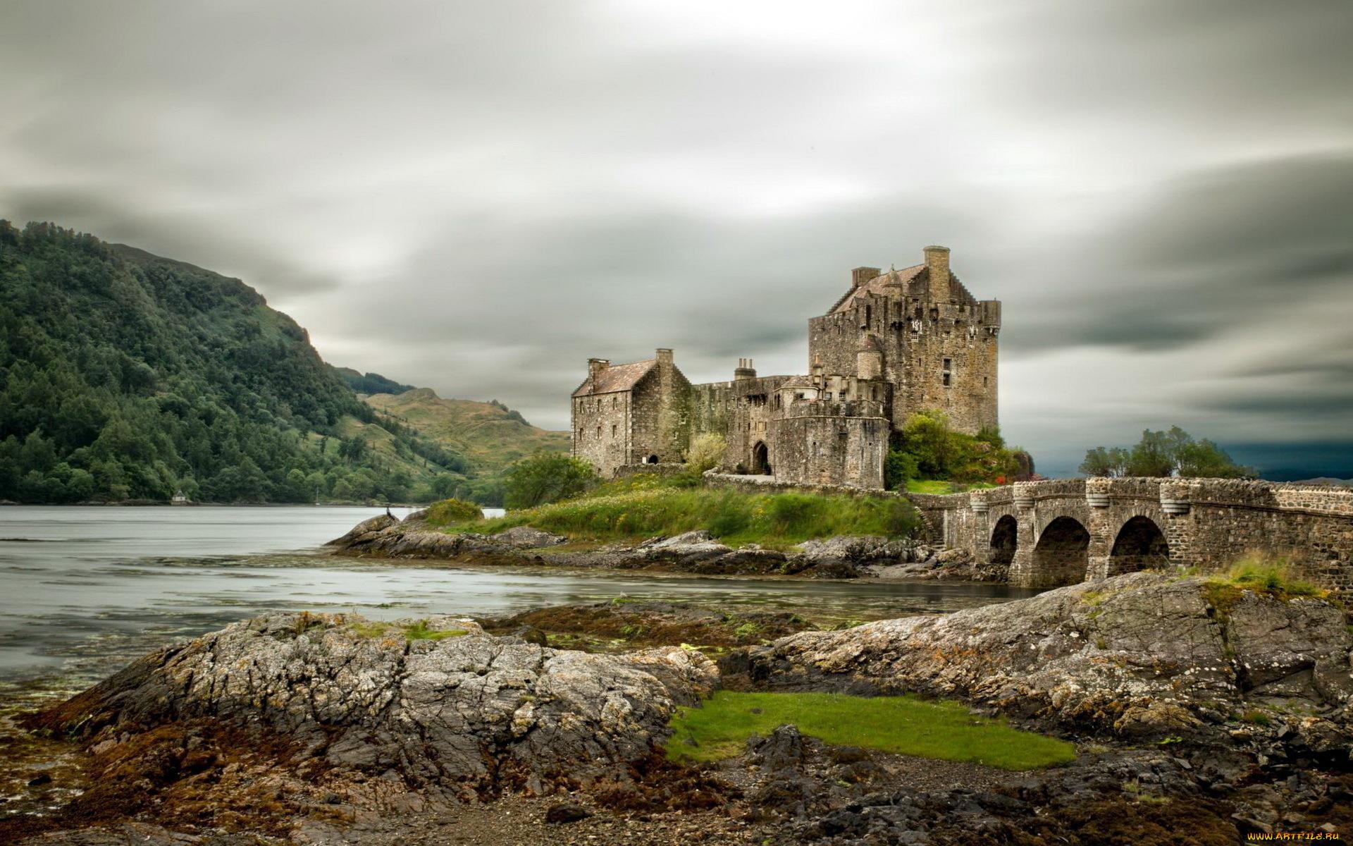 Шотландский каменный забор  № 2453262  скачать