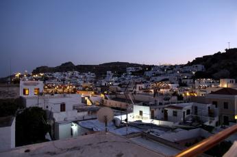 Картинка родос+греция города -+огни+ночного+города вечер огни