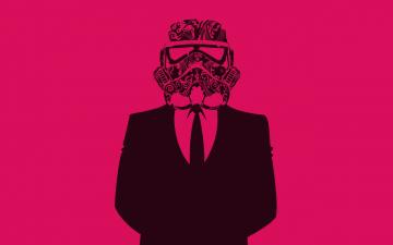 обоя векторная графика, люди , people, галстук, костюм, шлем, человек