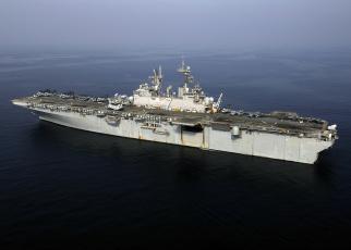 Картинка uss iwo jima lhd корабли грузовые суда корабль десантный