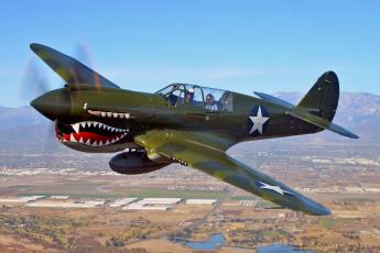 Картинка p40 warhawk авиация лёгкие одномоторные самолёты раскраска спарка истребитель полет