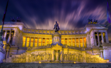 Картинка monument+vittorio+emanuele+ii города -+памятники +скульптуры +арт-объекты монумент дворец ночь