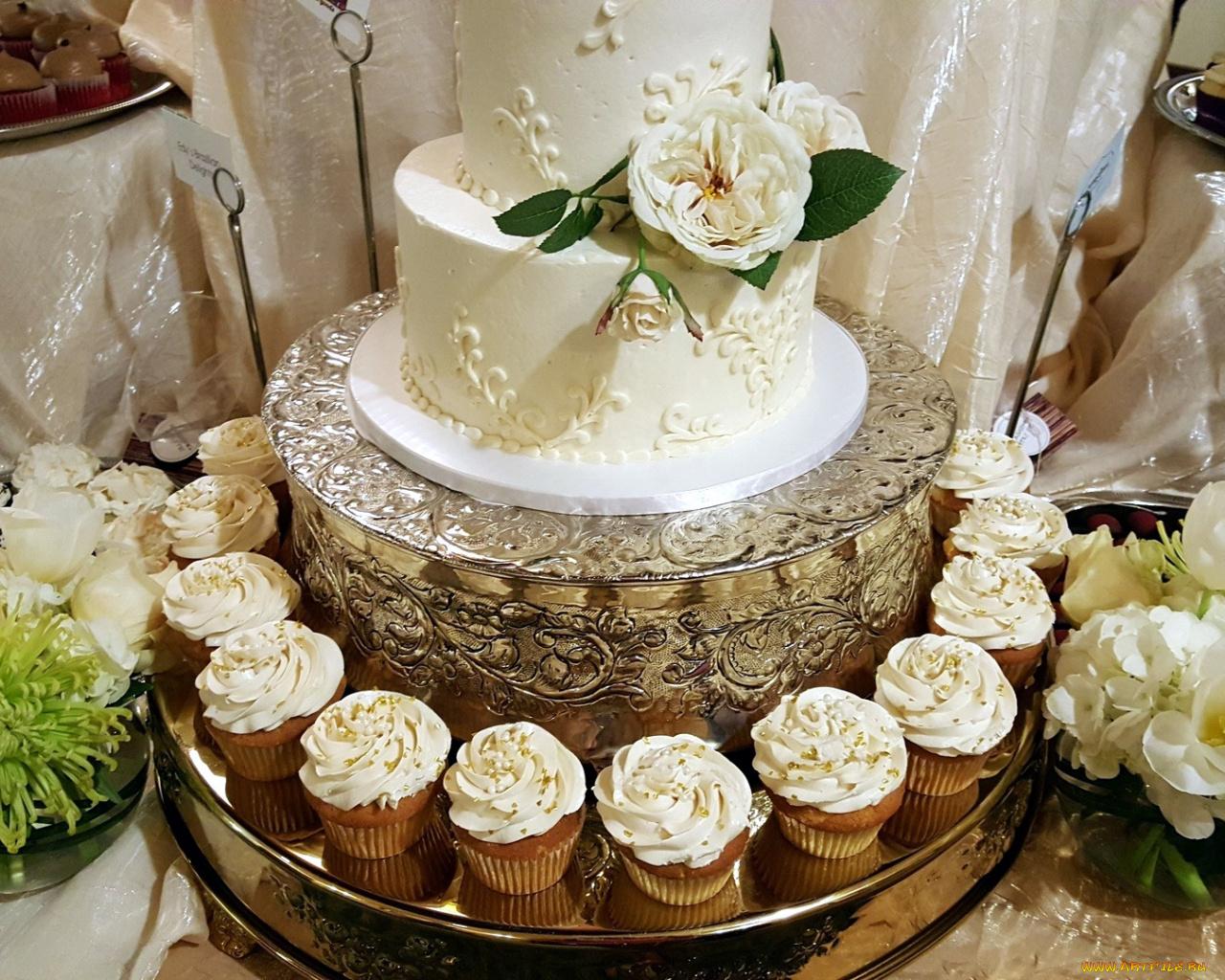 Свадебный торт  № 1408142 без смс