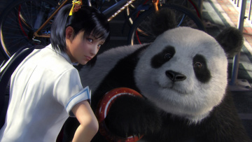 Картинка tekken blood vengeance видео игры девушка панда мишка