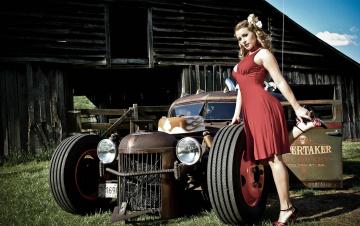 Картинка автомобили авто+с+девушками ratrod