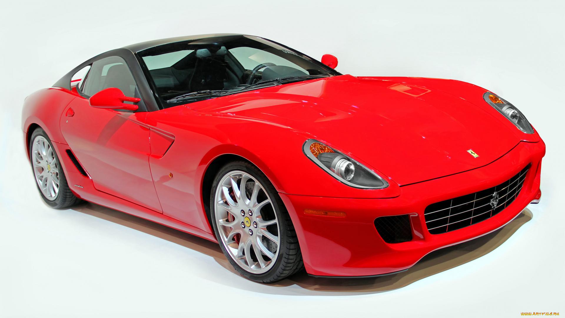 белый автомобиль Ferrari 599 GTB Fiorano скачать