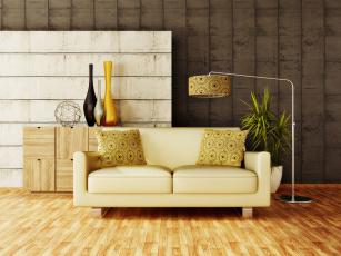 обоя интерьер, мебель, стиль, ваза, диван, светильник