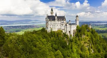 Картинка neuschwanstein города замок+нойшванштайн+ германия замок
