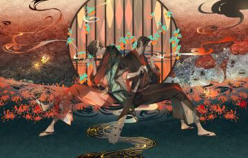 Картинка аниме ангелы +демоны персонажи разные
