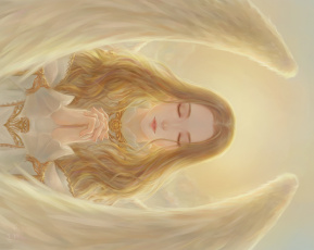 обоя фэнтези, ангелы, pai, yu