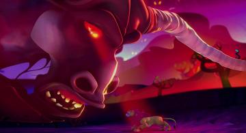 Картинка мультфильмы the+wild существо рога лев
