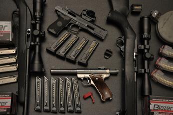 Картинка оружие пистолеты магазины винтовки прицелы
