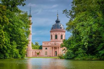 Картинка города мечети медресе минарет озеро