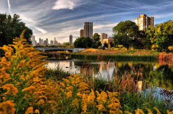 Картинка города Чикаго сша осень
