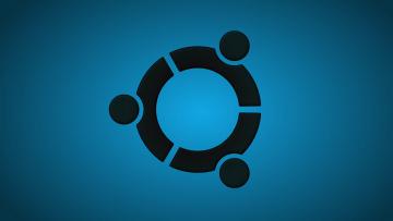 Картинка компьютеры ubuntu+linux фон логотип