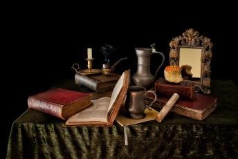 обоя still life, разное, канцелярия,  книги, натюрморт