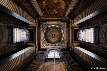 обоя интерьер, убранство,  роспись храма, потолок
