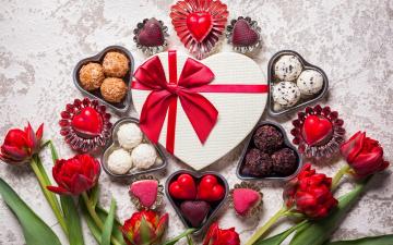 обоя праздничные, день святого валентина,  сердечки,  любовь, hearts, chocolate, gift, romantic, sweet, valentine`s, day, love, конфеты