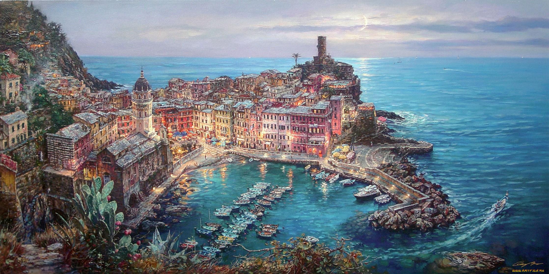 Открытки итальянские виды